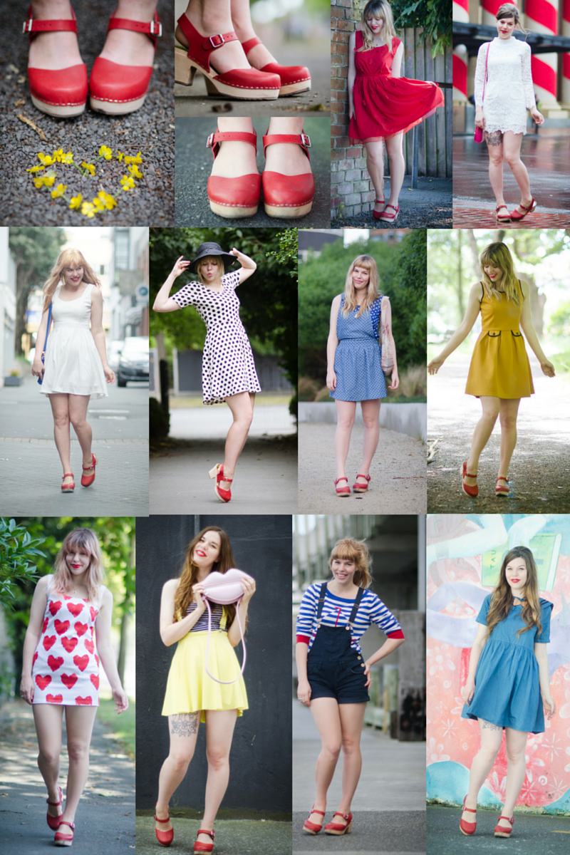 One pair of clogs, 10 outfits