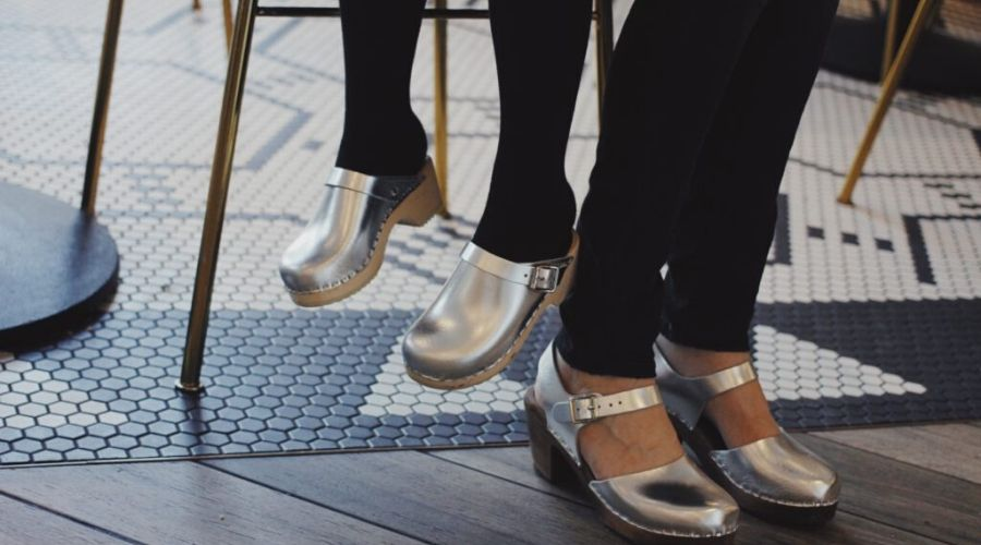 Silver Clogs