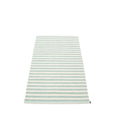 Pappelina Rug Carpet Duo Pale Turquoise and Vanilla Plastmatta Mat