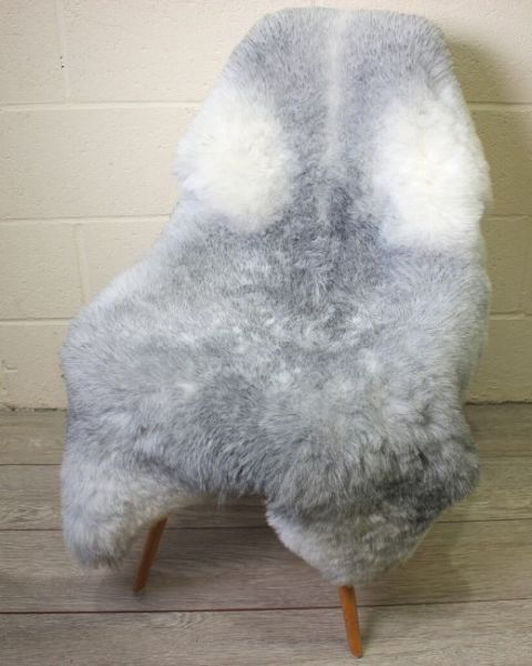 Natural Grey Shorn Icelandic Sheepskin L