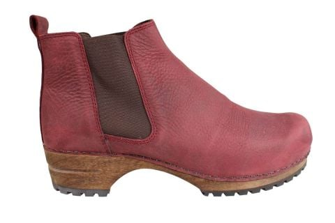 Lotta's Jo Clog Boots in Bordeaux Soft Oil Leather