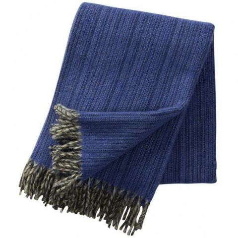 Klippan Bjork Navy Blue Blanket