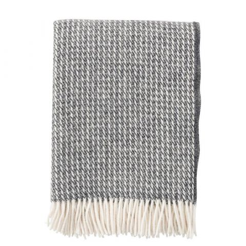 Klippan Line Dark Grey 100% Lambswool Blanket