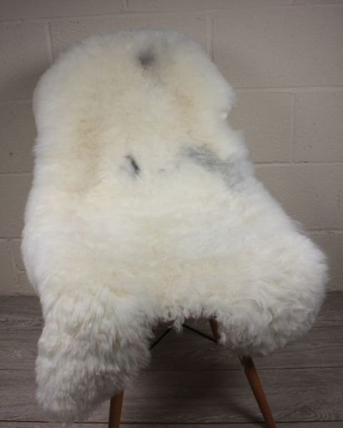 Natural Spotted Shorn Icelandic Sheepskin L