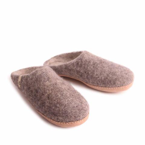 Egos Slip-on Indoor Shoe Simple in Natural Grey