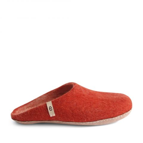 Egos Slip-on Indoor Shoe Simple in Rusty Red