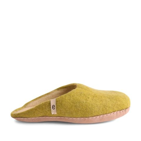 Egos Slip-on Indoor Shoe Simple in Lime Green