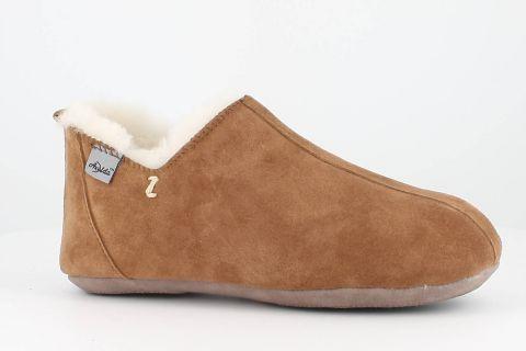Sheepskin Bootee Slippers in Chestnut