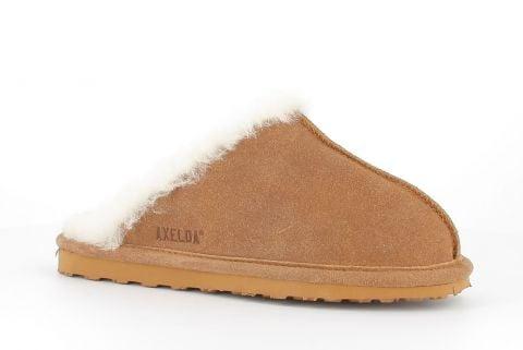Sheepskin Mule Slippers in Sand