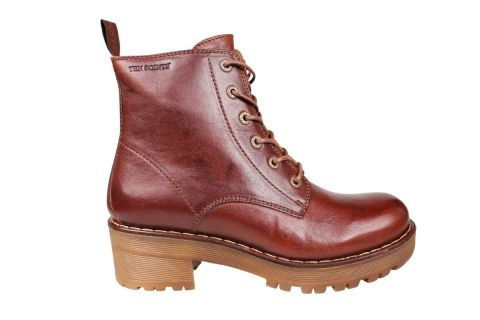 Ten Points Clarisse Lace-up Chelsea Boot in Chocolate