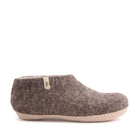 Egos Indoor Shoe in Natural Brown