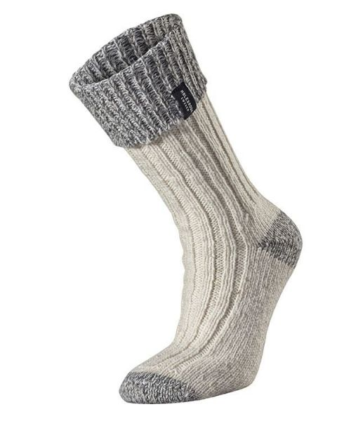 Holebrook Brommo Raggsocka in off white and grey