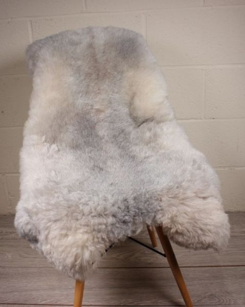 Natural Grey Shorn Icelandic Sheepskin M