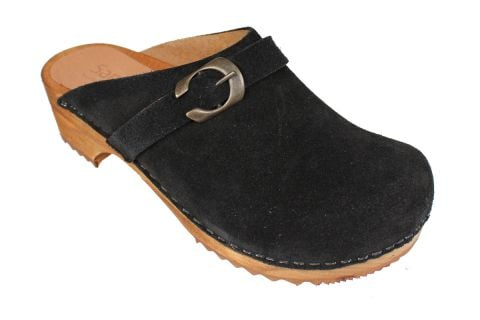 Sanita Hedi Clogs in Black Suede