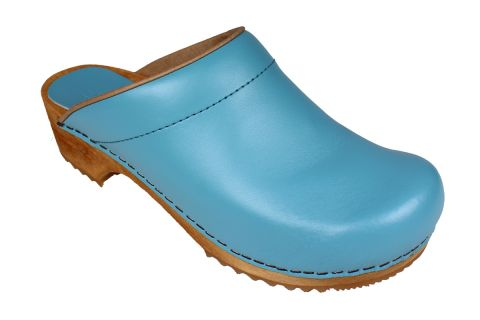 Sanita Lotte Clog in Teal PU Leather