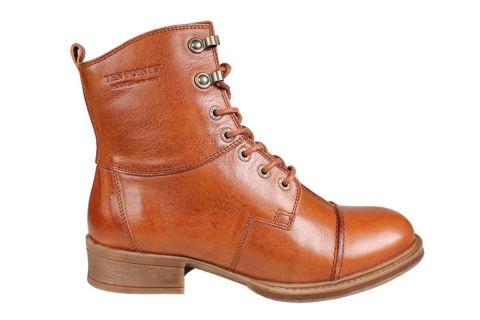 Pandora Lace-Up Boot in Cognac