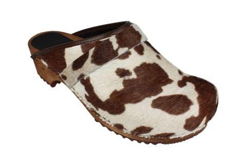 Sanita Caroline Classic Clog in Brown Cow