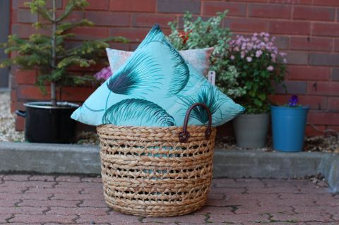 Bahne Palm Cushion in Green