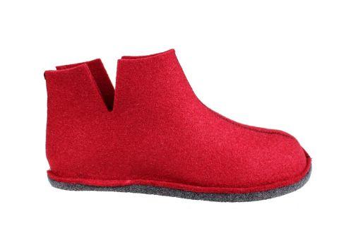 Sanita Haggy Eco- friendly Indoor Shoe in Red
