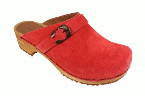 Sanita Hedi Classic Clog in Rusty Red Suede