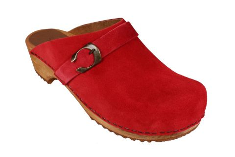 Sanita Hedi Classic Clog in Red Suede