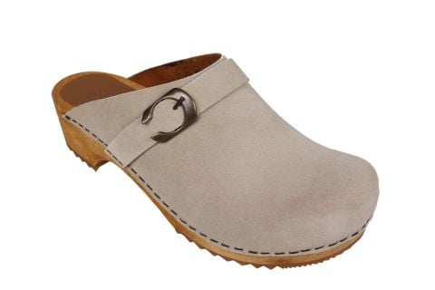 Sanita Hedi Clogs in Beige Suede