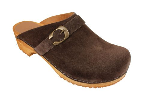 Sanita Hedi Clogs in Coffee Suede