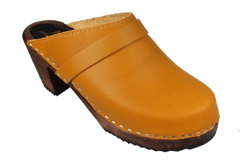 High Heel Classic Clog Honey on Brown Base Seconds
