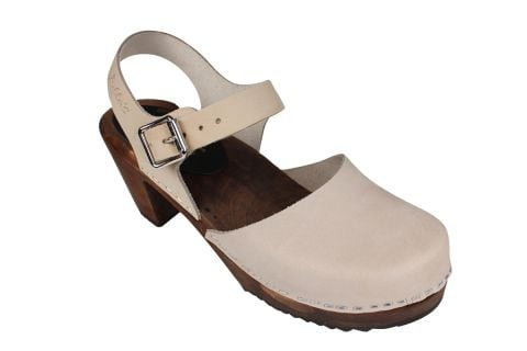Highwood Oatmeal Oiled Nubuck Clogs on Brown Base Seconds
