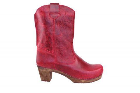 Sanita Laureen Dark Red Clog Boots