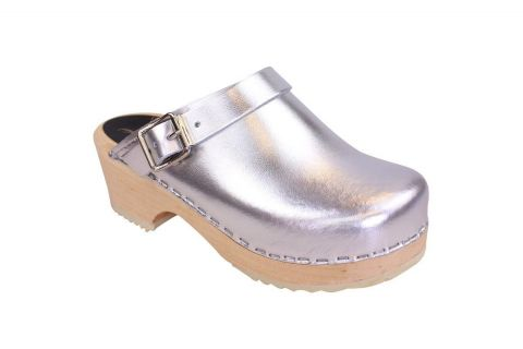 Little Lotta's Silver Clogs