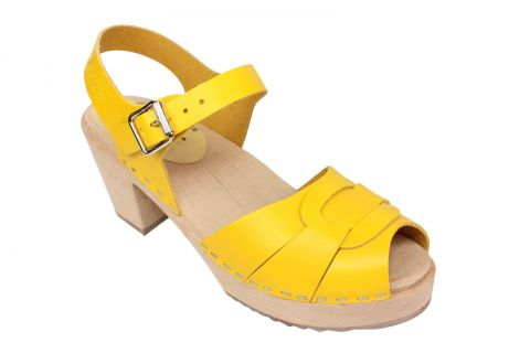Lotta From Stockholm Peep Toe Summer Yellow Seconds