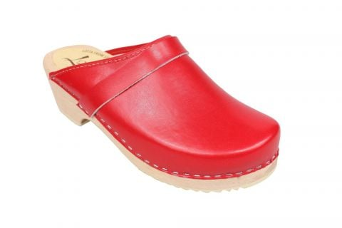classic red clog