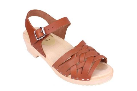 Lotta From Stockholm Low Tan Braided Clogs