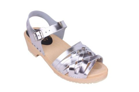 Lotta From Stockholm Low Silver Braid Clogs Main