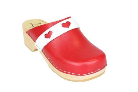 kids heart clogs