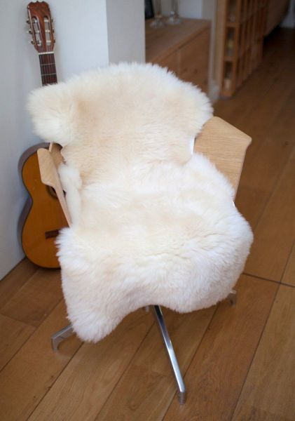 White Shorn Icelandic Sheepskin-L