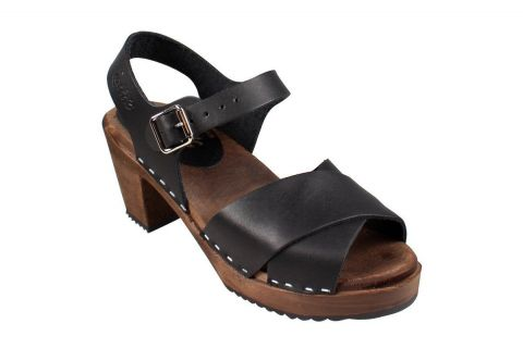 Cross Over Clogs Black on Brown Base Seconds