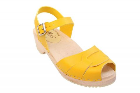 Low Peep Toe Yellow