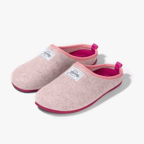 Mercredy Mule Slippers in Light Pink and Magenta