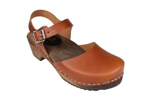 Low Wood Cinnamon Clogs on Brown Base Seconds
