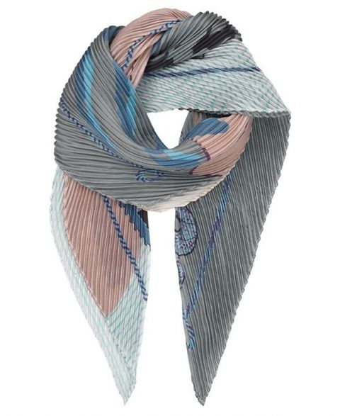 Unmade Copenhagen Journey Plisse Scarf in Mint