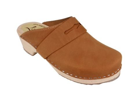 Classic Penny Clog Brown Oiled Nubuck Leather