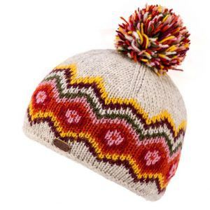 Kusan Bobble Hat in Oatmeal