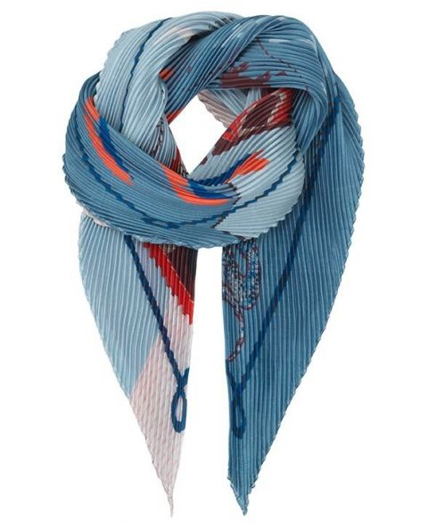 Unmade Copenhagen Journey Plisse Scarf in Light Blue
