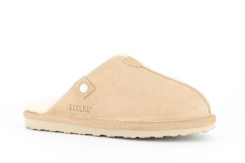 Sheepskin Mule Slippers in Sand
