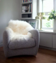 Natural White Icelandic Sheepskin Large