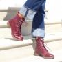 Pandora Lace-Up Boot in Bordeaux