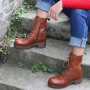 Clarisse Long Lace-up Chelsea Boot in Cognac