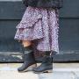 Sanita Silkan Wooden Clog Boot in Yak Waxy Nubuck Black